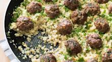 Greek Lamb Meatballs with Cauliflower Rice from 'Paleo Perfected'