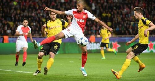 Foot - C1 - ASM - L'ouverture du score de Kylian Mbappé contre Dortmund en vidéo