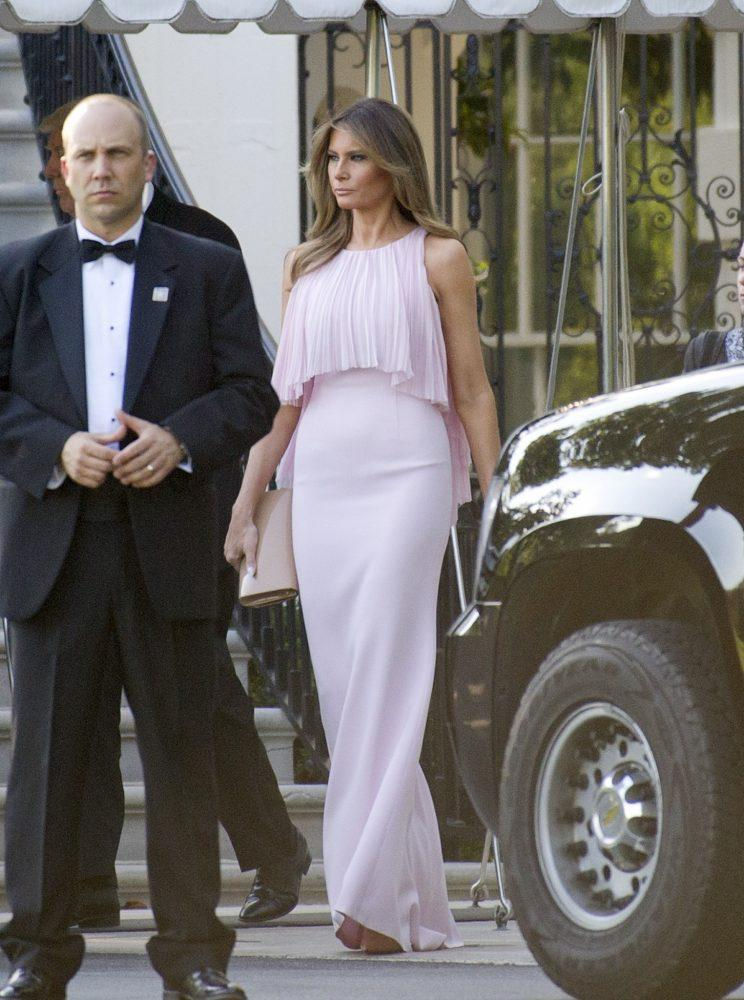 Melania Trump Wore the Perfect Wedding Guest Dress [Video]