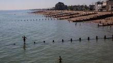 German second world war sea mine destroyed in West Sussex