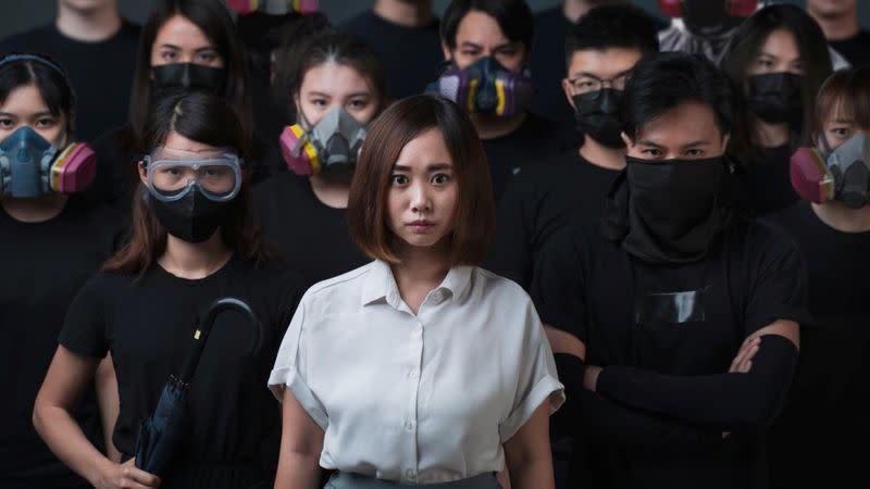 Pro-democracy activist?Tiffany?Yuen?Ka-wai?poses for a picture in Hong Kong