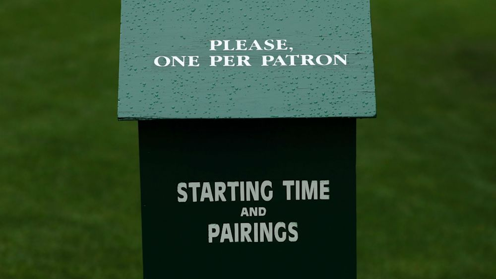The Masters: First and second round tee times in full
