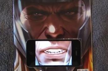 "iPhone AR ""talking"" comic book cover surprisingly cheesy"