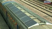 Train that uses solar power elements launched in New Delhi