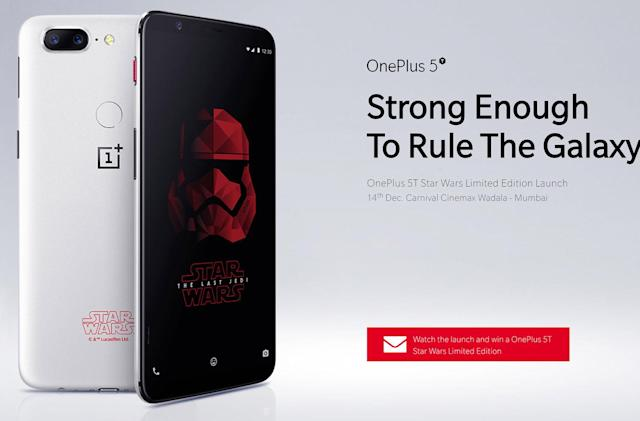 OnePlus launches 'Star Wars' 5T in time for 'The Last Jedi'