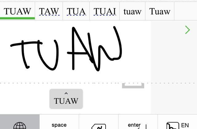 Something new for iOS - Handwriting input with Mazec