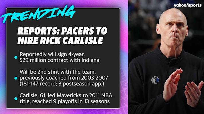 Reports: Pacers to hire Rick Carlisle