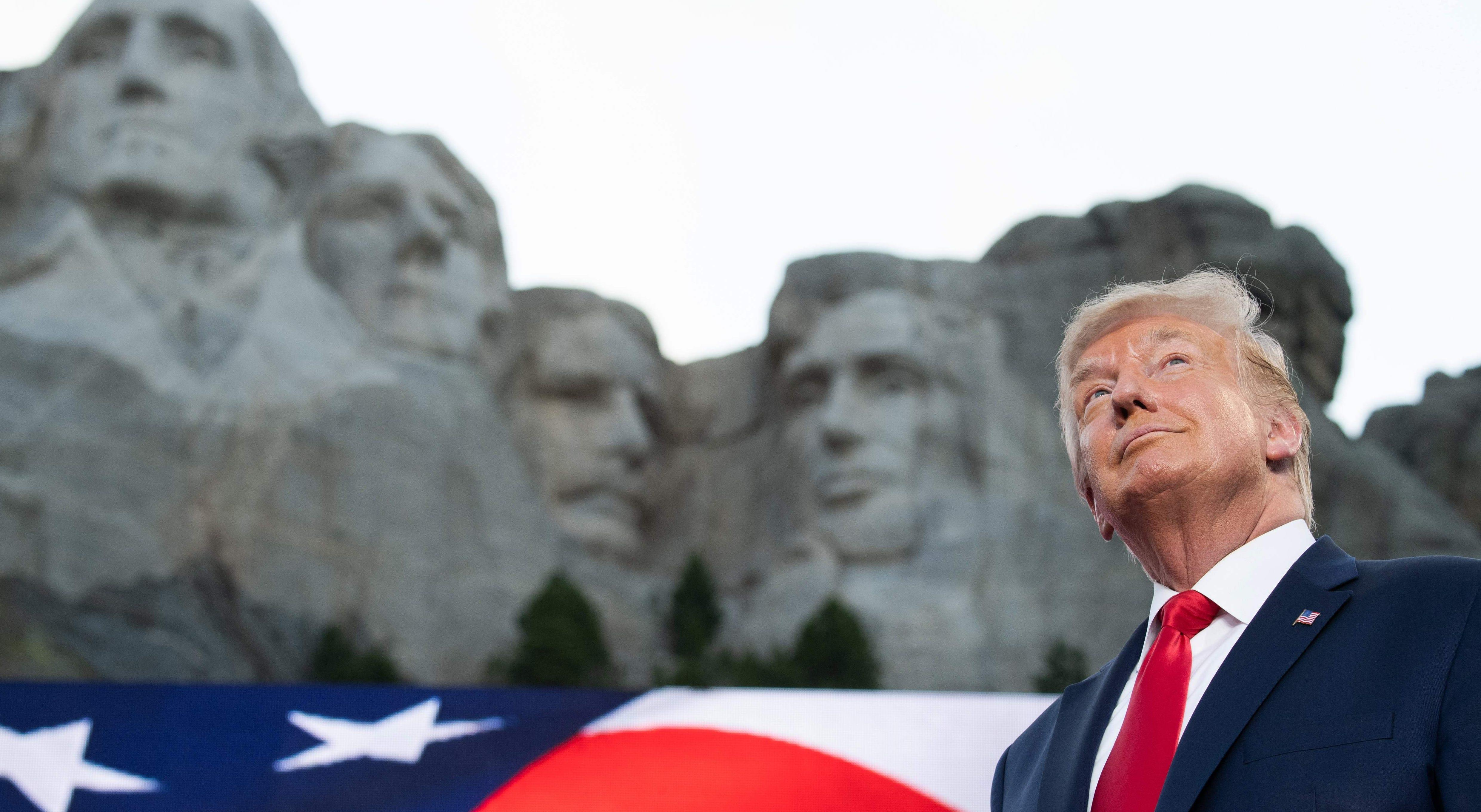 Trump says adding his face to Mount Rushmore would be a 'good idea.' It would likely be impossible