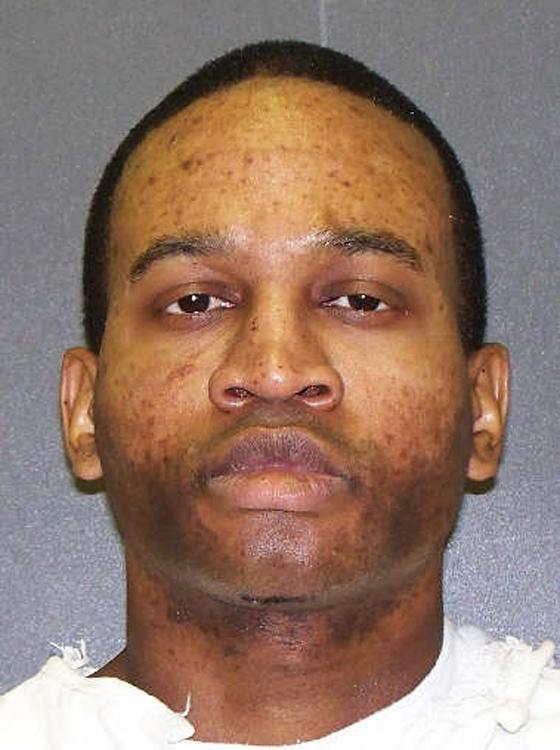 This photo provided by the Texas Department of Criminal Justice shows Jeffrey Williams. When Houston police arrested Williams for gunning down a plainclothes officer working an auto theft assignment, the slain officer's handcuffs dangled from one of Williams' wrists. Williams, 37, is scheduled for lethal injection Wednesday, May 15, 2013. (AP Photo/Texas Department of Criminal Justice)