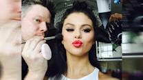 Selena Gomez Behind-the-Scenes With Glam Squad