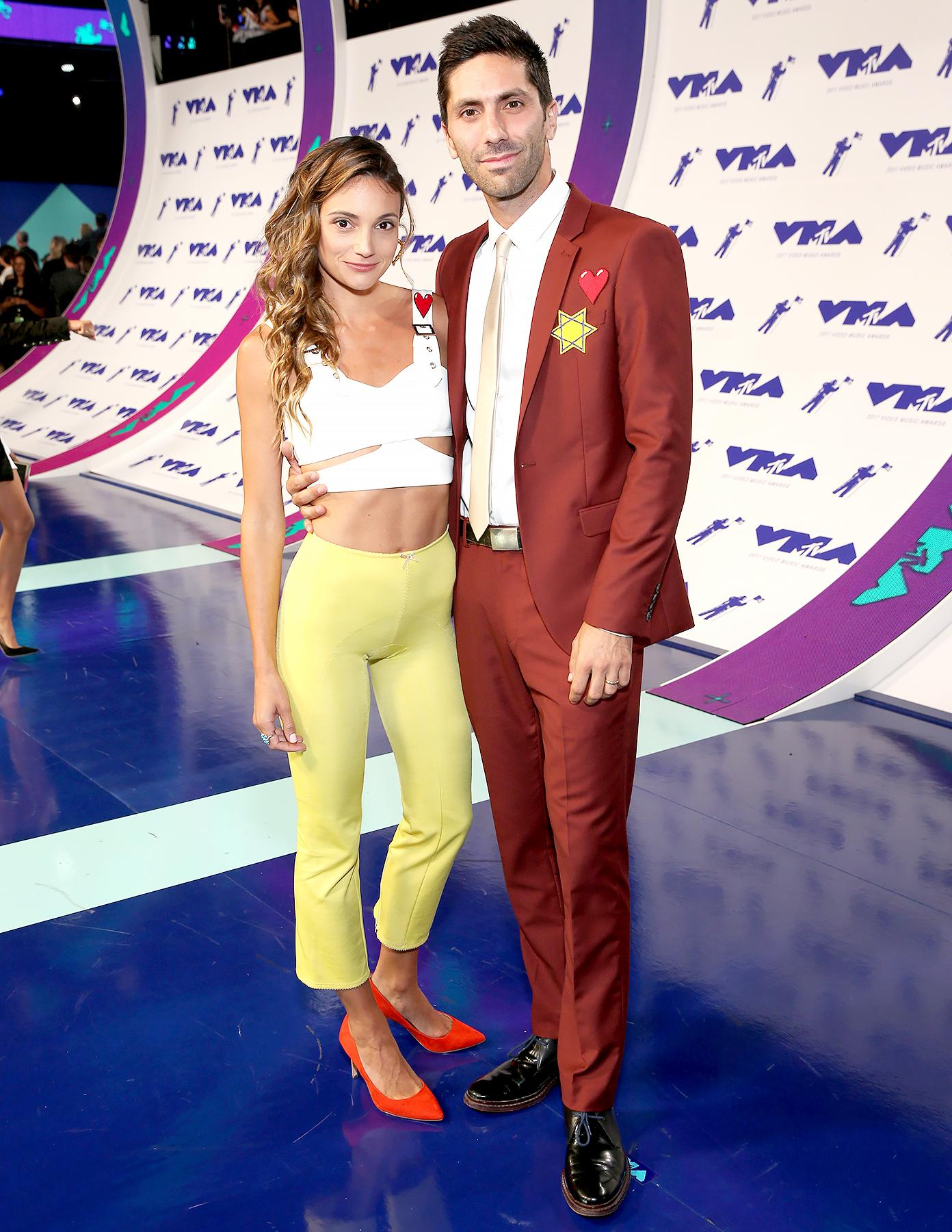 Vmas 2017 Nev Schulman And Wife Laura Perlongo Have Night Out After Wedding