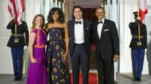 The Obamas can thank Justin Trudeau for their holiday card photo