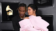 Kylie Jenner and Travis Scott Just Walked the Grammys Red Carpet... Late