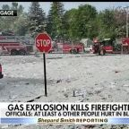 Gas explosion kills firefighter as blast destroys new building in Maine