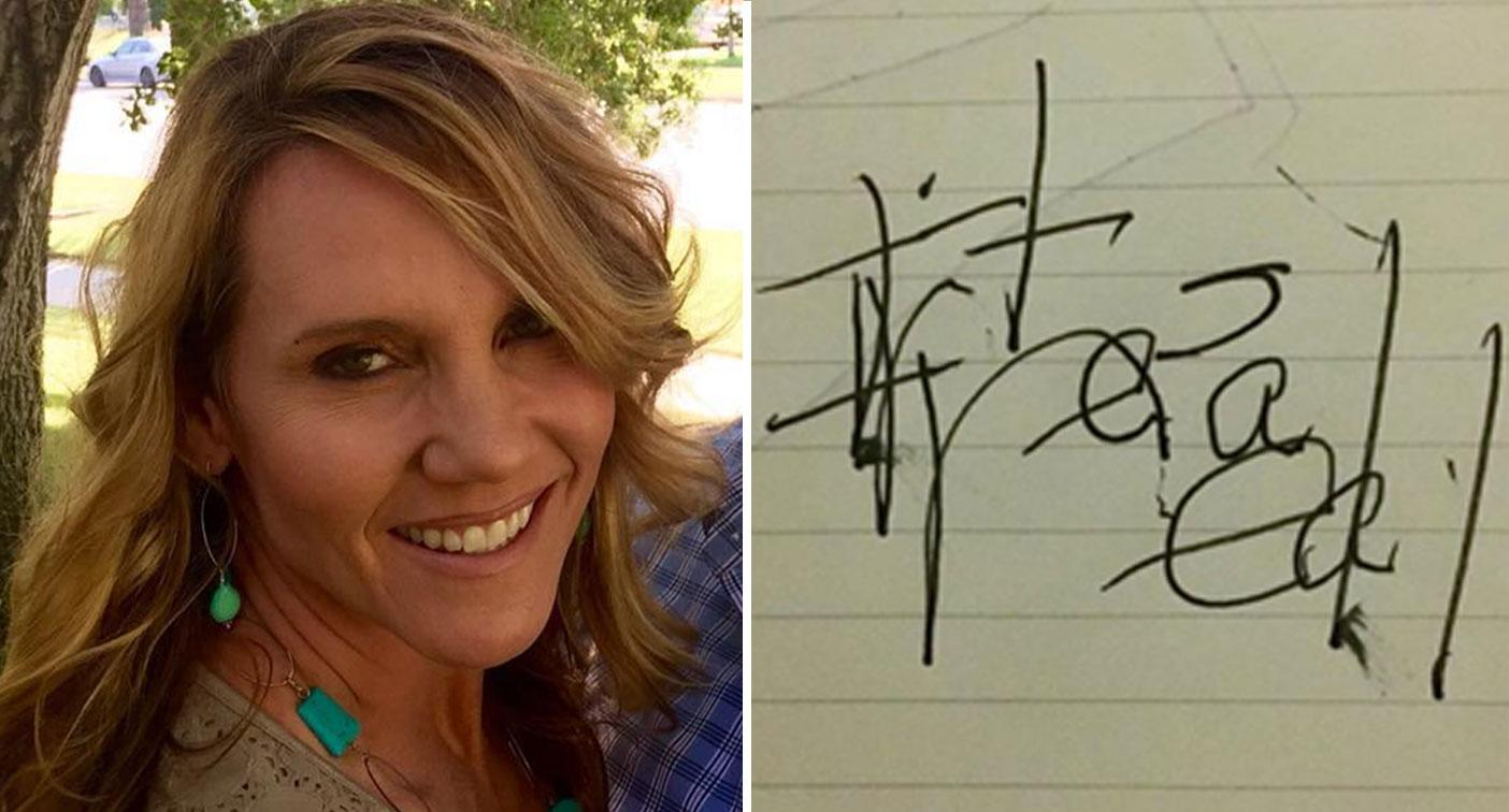 'It's real': The eerie note a mother of two scrawled in near-death experience