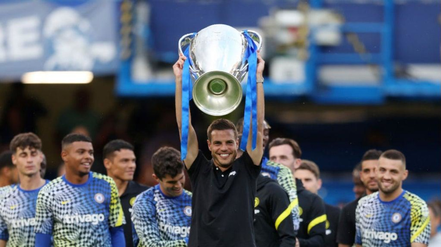 Champions of Europe! Chelsea FC show off Champions League trophy to fans at Stamford Bridge