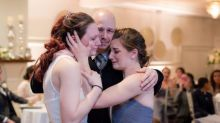 Newlyweds share father-daughter dance with friends whose father has terminal cancer
