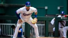 The Rangers didn't learn their lesson in spring training. This error happened again.