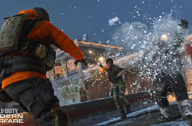 'Call of Duty: Modern Warfare' adds holiday-only snowball fights
