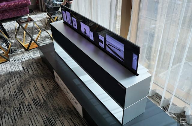 LG's rollable OLED TV is real, and you can buy it this year