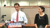 Anthony Weiner 'Carlos Danger' texts lead to calls to quit mayor race; Huma Abedin vows to support husband