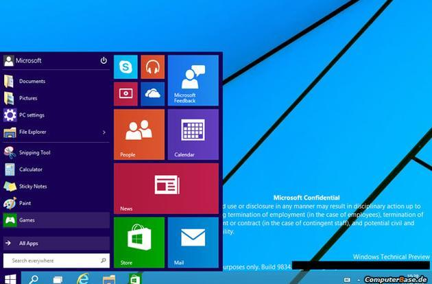 Leaked Windows 9 screenshots hint at a redesigned desktop