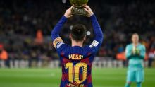 Messi, o rosto e o peso do Barcelona