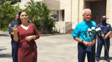 Moment heckler shouting 'f*** you' at Hawaii mayor has obscenity translated by sign language interpreter