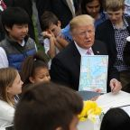 Trump says child told him to build the wall at Easter Egg Roll