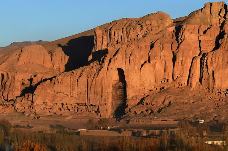 Trump's threat drew comparisons with the Taliban's destruction of the Bamiyan Buddhas in Afghanistan, which once stood at this site (AFP Photo/WAKIL KOHSAR)