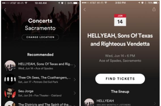 Spotify adds Eventbrite to its roster of concert listings