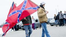 The Latest: Student: Confederate flag theft sparked protests