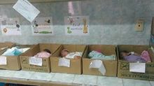 Newborn babies forced to sleep in cardboard boxes in Venezuelan hospital