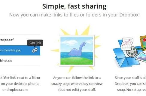 Dropbox simplifies sharing with file viewer and folder links