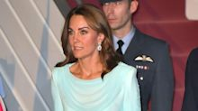 Kate Middleton Wears a Blue Ombre Shalwar Kameez as She Arrives in Pakistan for Royal Tour