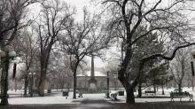 'Slow But Steady' Snowfall Coats Downtown Santa Fe