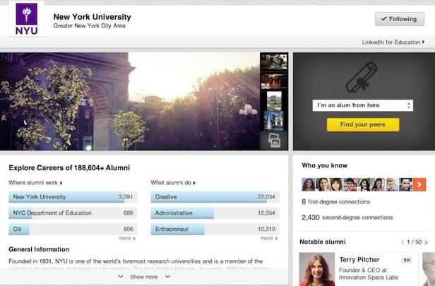 LinkedIn launches University Pages, helps students learn more about colleges