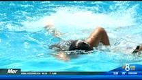 Local homeless students enjoy free swim lessons