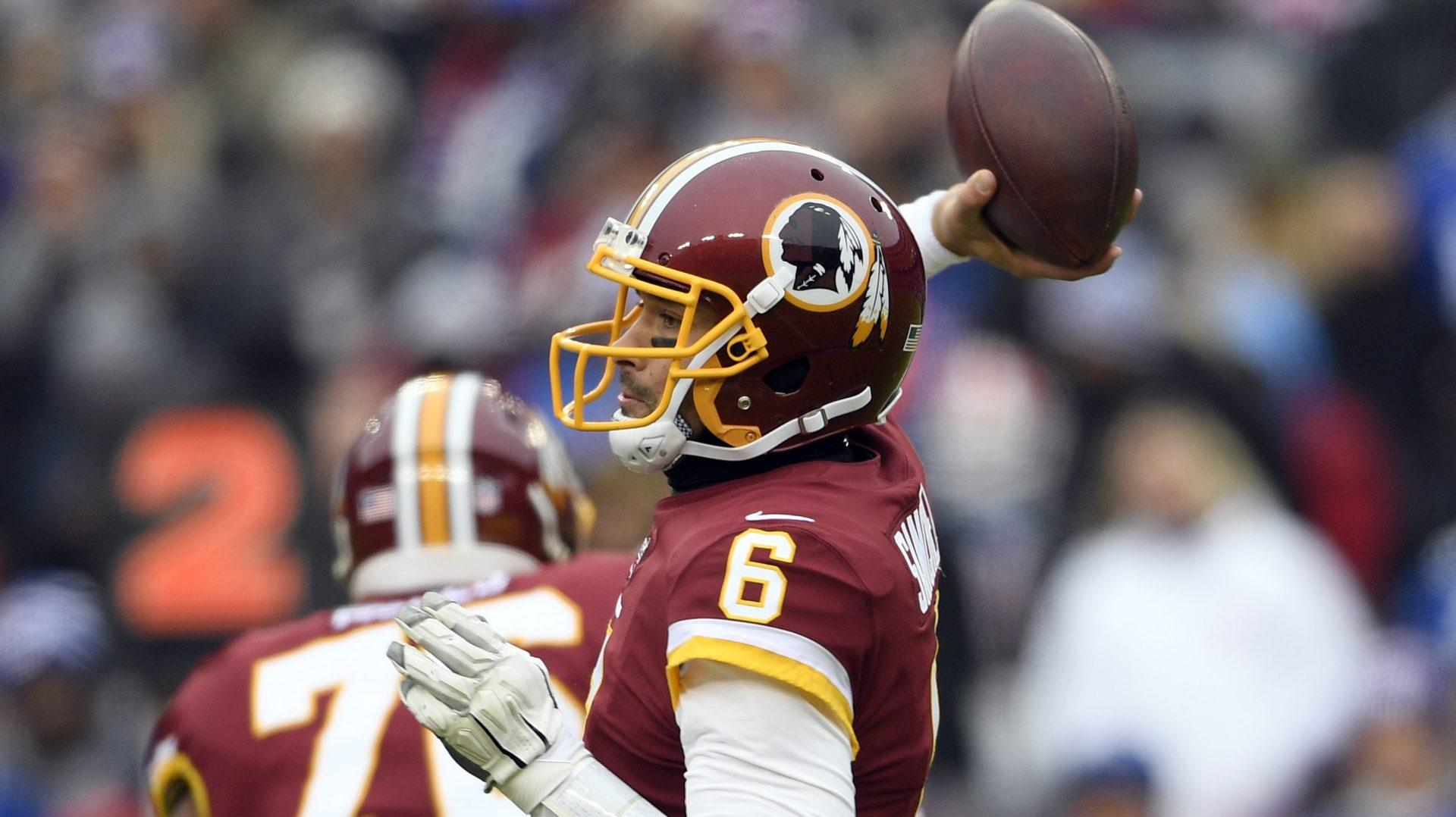 Washington's Mark Sanchez throws early pick-six, later benched