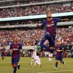Amid heightened transfer rumors, Neymar delivers delightful double for Barcelona