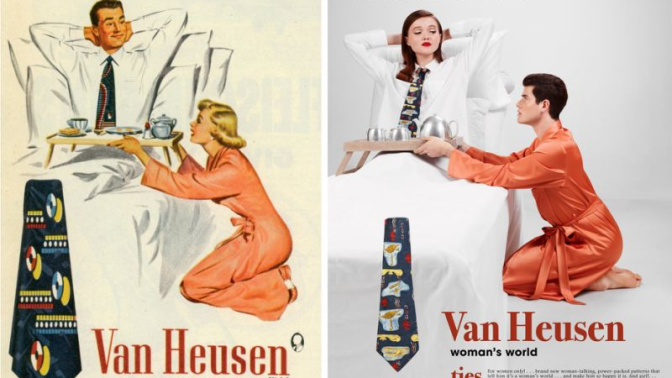 An artist reversed the gender roles in these '50s ads to 'give men a taste of their own sexist poison'