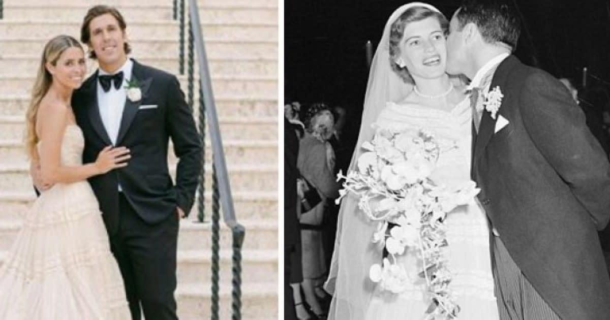 Llevar el vestido de novia de tu abuela es lo de hoy; la nieta de Eunice Kennedy lo hizo
