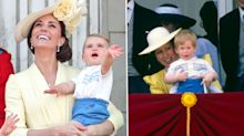 Prince Louis makes Trooping the Colour debut wearing Prince Harry's hand-me-downs