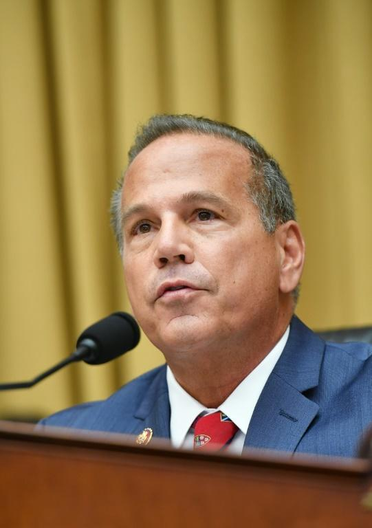 """House Judiciary Subcommittee Chair David Cicilline, D-RI, speaks during a hearing on """"Online Platforms and Market Power"""" (AFP Photo/MANDEL NGAN)"""