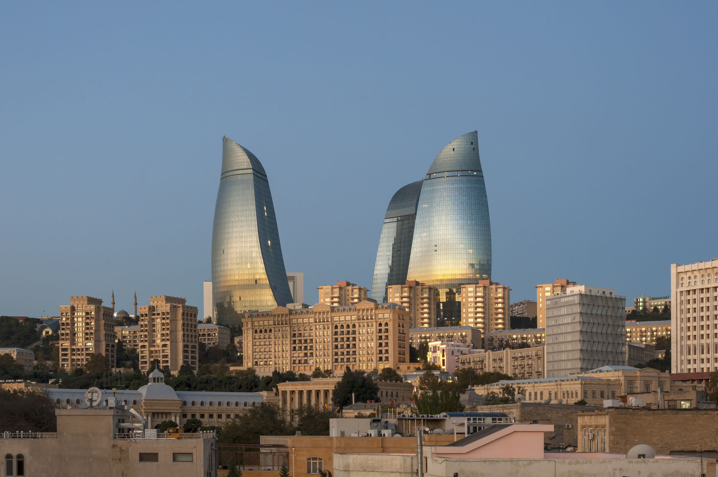 """<p>Baku is Azerbaijan's capital and has become home to a host of stunning and spectacular buildings in recent years that blend in with the ancient architecture. Baku is also a UNESCO listed 'Old City'.</p>  <p>TripAdvisor recommend the<a href=""""https://www.tripadvisor.co.uk/AttractionProductDetail?product=13710P4&d=459847&aidSuffix=tvrm&partner=Viator"""" target=""""_blank"""">Baku Old Town Walking Tour</a>, bookable from £35 per person.</p>"""