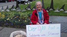 71-year-old woman completes 17-day hunger strike for starving orcas