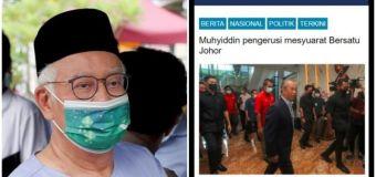 Fined for breaching COVID-19 rules, Najib Razak posts photo of maskless Muhyiddin
