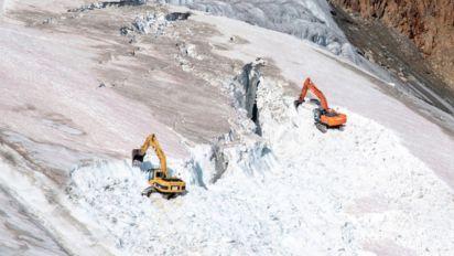 Ils détruisent un glacier pour étendre un domaine skiable