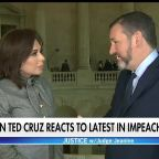 Sen. Ted Cruz reacts to latest in impeachment trial