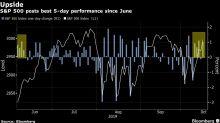 Acciones de EE.UU. alcanzan máximo de cuatro semanas; libra sube